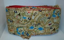 Pirate Handmade baby bumper Tan Red Blue