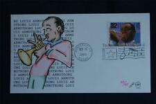Jazz Musicians Louis Armstrong 32c Stamp FDC Steve Wilson Sc#2983-92 AMS Satchmo
