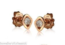 18Carat Rose Gold & Diamond Sleek Solitaire Studs 0.28carats GSI