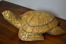 Beautiful and Unique Hand Carved Solid Wood Sea Turtle Tortoise Sculpture Statue