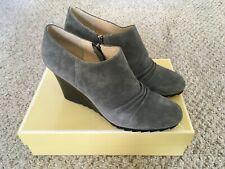 MICHAEL KORS Norma Bootie Suede Boots Size 12 Grey