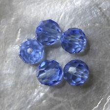 5 FACETTES RONDES  -  Cristal de Bohême  -  8 MM  - LIGHT SAPPHIRE BLUE