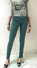 RINASCIMENTO jeans pantaloni donna XXS XS 32 MISTO COTONE PETROLIO