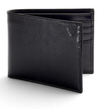 New Aspinal of London Mens Billfold Wallet Black Leather  RRP £80