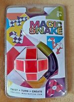 Retro Snake Puzzle Magic Cube Twist Toy for Adults and Kids White Red new