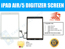 White iPad Air Touch Screen Digitizer & Home Button Assembly - Genuine OEM UK
