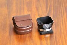 Authentic Rollei TLR Bay I Lens hood w/ Leather Case, for Rolleiflex/Rolleicord