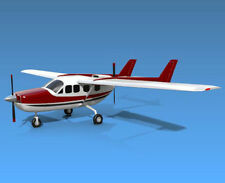 Giant 1/4 Scale Cessna Skymaster Plans and Templates 115ws