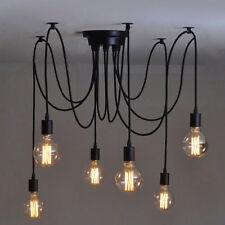 Vintage Multiple Ajustable DIY Ceiling Spider Lamp Light Pendant Lighting E27 ES