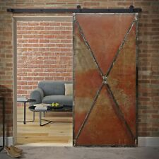 Schiebetürsystem Komplett Scheunentor Stahl Rusty Metal-LoftMarkt