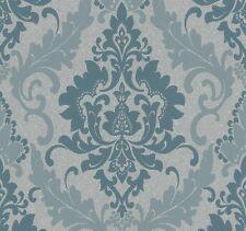 Tapete Vlies Ornamente grau türkis P+S 13351-10 (2,49€/1qm)
