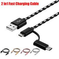 2 en 1 Charge Câble Rond Magnétique De Pour Type C/Micro USB Android Lot