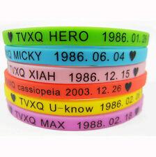 6pcs I LOVE TVXQ DBSK Tohoshinki Silicone Bracelet Rubber Wristband Colorful