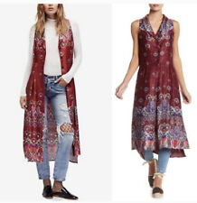 NWT Free People Red Come See Me Maxi Vest Size Medium