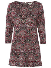 New BNWT AW White Stuff Rosie Floral Jersey Tunic Dark Scarlet UK 12