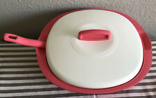 Tupperware Legacy Rice and Soup Server Bowl w/ Scoop Coral / Pink 7.5 Cups New
