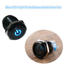 Blue 12V LED Light Car Truck Van Switch Push Button Latching Toggle