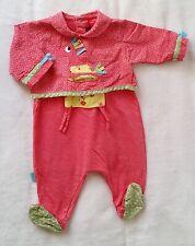 48c9b3247788b Pyjama coton rose et coloré bébé fille été 1 MOIS CATIMINI