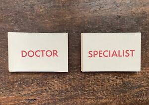 1965 Vintage MB Operation Game Replacement Parts - DOCTOR / SPECIALIST CARDS