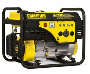 Champion 4500 / 3650 Watt Portable Power Generator 120V 240V Cold Start