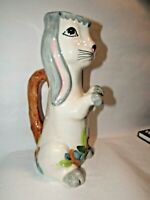 """Vintage Olfaire Bunny Rabbit  Serving Pitcher Made in Portugal 12""""  Floppy Ears"""