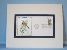 State Bird & Flower of Nebraska - West Meadowlark & Goldenrod & First Day Cover