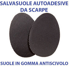 SUOLE DA SCARPE IN GOMMA AUTOADESIVE ANTISCIVOLO SALVASUOLE NERE UOMO/DONNA