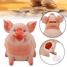 Piggy Bank Resin Craft Coin Bank Pig Shaped Money Box Kids Children Decor Gift