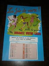 CALENDRIER 1975 AMICALE DES DONNEURS DE SANG BENEVOLES DE LA REGION DE FOURMIES