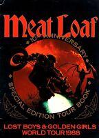 MEAT LOAF 1988 LOST BOYS & GOLDEN GIRLS TOUR CONCERT PROGRAM BOOK / VG 2 NMT