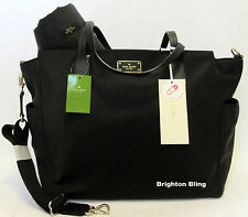 Kate Spade Kaylie Blake Avenue Baby Diaper Bag MultiFunction Tote Black SALE 349