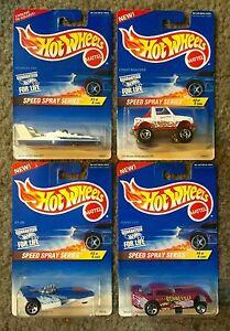 SPEED SPRAY SERIES- 1996 Hot Wheels 4 Car Set