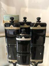 Vintage CARON Nuit de Noel Perfume BOTTLE SET OF 4  + 1 BOX BEYOND RARE Baccarat