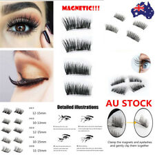 2 Pair 3D Magnetic False Eyelashes No Glue Handmade Natural Extension Eye Lashes