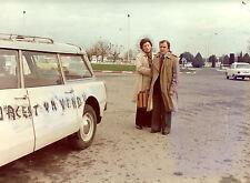 Photo originale Pierre Mondy Françoise Prévost automobile Citroën ID 19 Break
