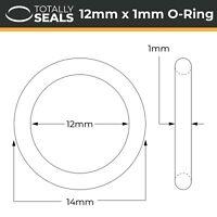12x1 Nitrile (NBR) O-rings - 12mm Inner Diameter x 1mm Cross Section (14mm OD)