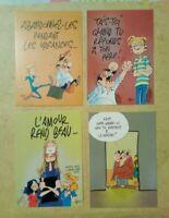 4 carte postale Germain et Nous Frédéric Jannin BD