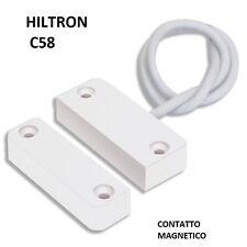 HILTRON CONTATTO MAGNETICO REED PER PORTE E FINESTRE C58 2FILI CIA