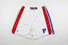 Adidas Mens 46 +2 Game Worn Detroits Pistons Basketball Shorts White Stitched