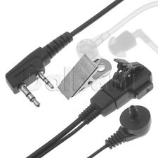 New Replacement Radio Headset Accoustic Tube Kenwood UV5R UV3R Transparent 2 Pin