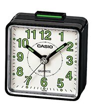 Casio TQ140-1B White Dial Easy Reader Table Top Travel Alarm Clock