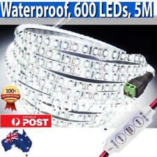 New Waterproof 600 LEDs Cool White DC 12V 5M 3528 SMD Bright LED Strip Lights.,,