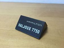Placa Exposant Plaque HAMILTON - Valjoux 7750 - Painted Wood - For Colletors