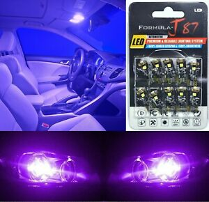 Canbus Error LED Light 194 Purple 12000K Ten Bulbs Interior Map Replacement Lamp