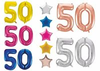 Giant 50th Birthday Party Number Age 50 Foil Balloon Helium Air Decoration Stars