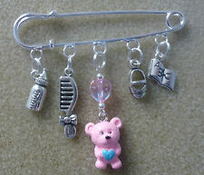 GIFT -  Baby Shower Christening New Mum To Be Kilt Pin Brooch-For Mum Pram Bag!