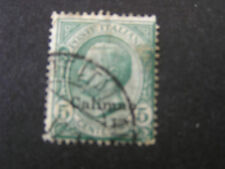 *ITALY OFFICES IN CALINO, SCOTT # 2, 5c. VALUE 1912-21 OVERPRINTED ISSUE USED