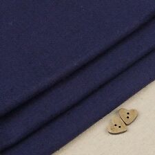 Robert Kaufman Essex Navy Blue Linen Blend Fabric / Bag Dressmaking Dark Deep