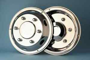 """1 set 4 17.5"""" Mercedes Atego deluxe wheel trims hub caps covers stainless steel"""