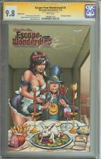 ESCAPE FROM WONDERLAND #4 SS CGC 9.8 AUTO MIKE DEBALFO GRIMM FAIRY TALES